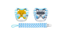 Dr Brown's PreVent Pacifiers 2-Pack with Blue Clip