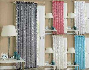 Shimmer Voile Foil Shiny Curtain Slot Top Rod / Net Curtain Panel Drape Voile