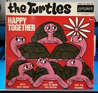 "The TURTLES ""  Happy together ""  7"" EP 45 tours -  London Rec ‎– REU 10.185. FR"