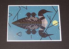 Charley Harper Charles Clair de Loon deloon Lake Duck two chicks geese Art print