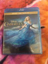 Cinderella (Blu-ray/DVD, 2-Disc Set, 2015, Includes Digital Copy) NEW