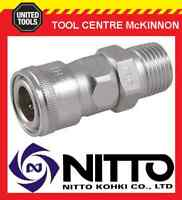 "NITTO FEMALE COUPLING AIR FITTING WITH 1/2"" BSP MALE THREAD (40SM) – JAPAN MADE"