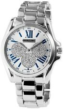 Excellanc 1515 Women's Wrist Band Watch silver colored Chronograph Rhinestone