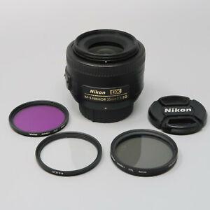 Nikon NIKKOR AF-S 35mm DX f/1.8 Prime Lens - Plus Filters