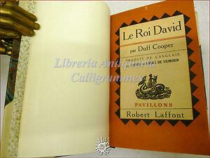 STORIA EBRAICA: Duff Cooper, LE ROI DAVID 1947 Laffont Re David Carta Palestina