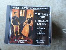 BBC SINGERS / BO HOLTEN Byrd / Tallis MASSES & MOTETS - CD BBC - 1998