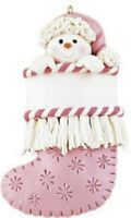 Snow Girl Stocking Personalized Christmas Tree Ornament