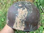 Very original ww2 c1943 British airborne paratrooper camouflaged helmet BMB