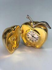 Timex Quartz Apple Desk Clock God Tone - Working