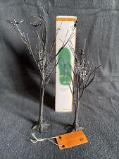Department 56 Halloween Village Accessories Spooky Spider Trees Nib Nwt