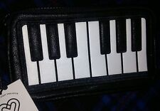 LOVE BRAVERY Lady Gaga Elton John Piano Make Up/Travel Bag MSRP $30 NEW
