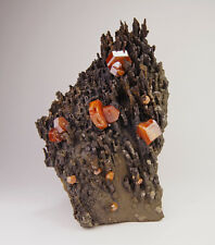 Red Vanadinite crystals on stalactitic matrix from Taouz - Morocco
