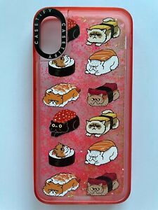 Casetify Sushi Cat Cell Phone Glitter Case iPhone XS