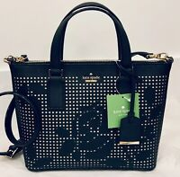 NWT Kate Spade Cameron Perforated Lucie Crossbody Bag Black Leather AUTHENTIC