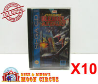 10x SEGA CD GAME CLEAR PROTECTIVE BOX PROTECTOR SLEEVE CASE - FREE SHIPPING!