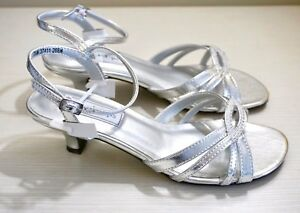 NIB Touch Ups by Benjamin Walk, Dakota Heels, Silver Metallic Leather 268M, 7.5M