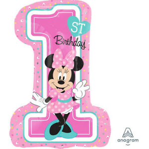 Party Supplies One Birthday Minnie Mouse Girls 1st Foil Balloon Supershape