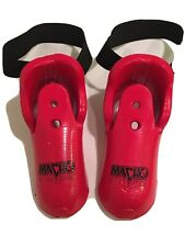 Macho Martial Arts Youth Red Sparring Gear Foot Pads - 8.5 x 3 inches