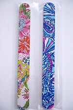 Lilly Pulitzer Target Nail File Emery Board My Fans + Nosie Posey Set of 2 New