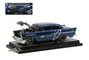 Chevrolet 150 Sedan Azul Oscuro 1957 1:24 M2 Machines