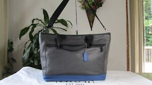 NWT Coach Camden Leather Weekend Travel Tote Crossbody F70925 Charcoal / Marine