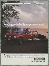 1991 ISUZU PICKUP advertisement, Canadian advert, boat launch ramp