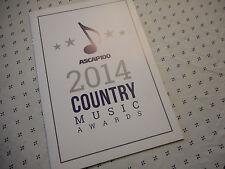 2014 ASCAP Country Music Awards Program Book Alan Jackson