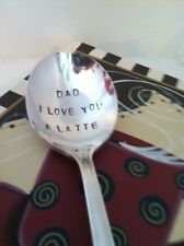 By Vinyl Phrase Craze: Hand Stamped Dad I Love You A Latte Coffee Spoon
