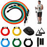 NEW RESISTANCE BANDS WORKOUT EXERCISE YOGA 10 PIECE SET CROSSFIT FITNESS TUBES
