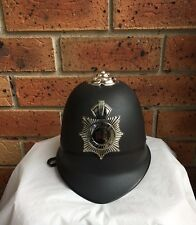 Black English BOBBY Hat British Police Officer Costume Helmet