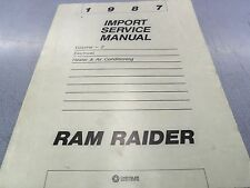 1987 Dodge Ram 50 Service Manual Vol 2 Electrical AC Repair Book OEM D50 X1500