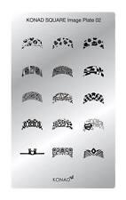 Konad Stamping Nail Art Square Image Plate 2