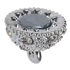 5pzs 10 mm Cierre magnetico de bola Diamante de imitacion Plata M4Y7