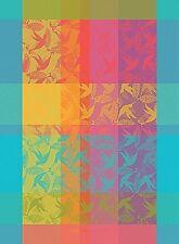 GARNIER THIEBAUT, MILLE COLIBRIS (HUMMINGBIRDS) FRENCH WOVEN KITCHEN / TEA TOWEL