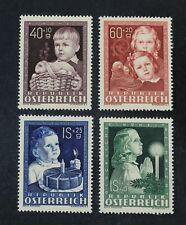 Ckstamps: Austria Stamps Collection Scott#B260-B263 Mint H Og