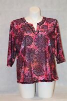Swimsuit for All Coral & Pink Swim Shirt Tee Rashguard NWT PLUS 18 20 22 24 26 W