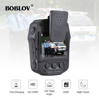 """Boblov 32GB 2"""" Police Body Worn Camera 1296P Novatek 96658 Security Camcorder"""