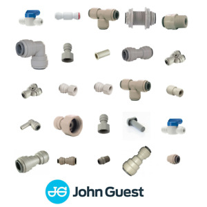 """John Guest 3/8"""" Push Fit Fittings Drinks Pub Dispense & Pure Water, Brewery Tube"""