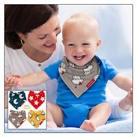 Baby Bibs Bandana Drool Bib 4 Pack by Cheraboo Gift Set Reversible & Soft