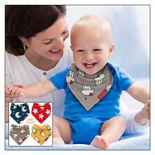 bébé bavoirs bandana BAVE Lot de 4 par cheraboo Set cadeau réversible & doux