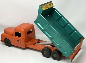Vintage 1950's Structo Hydraulic Operated Pressed Steel Toy Dump Truck