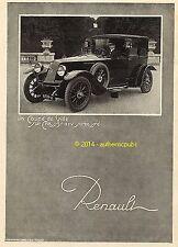 PUBLICITE AUTOMOBILE RENAULT UN COUPE DE VILLE SUR CHASSIS 12 CV DE 1923 AD PUB