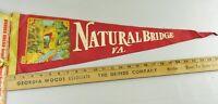 VTG Felt Pennant Historical Rare 1950s Natural Bridge Va Virginia