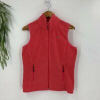 Vineyard Vines Womens Zip Up Fleece Vest Jacket Size Small S Logo Pink Pockets