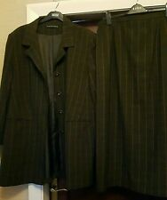 Ann Harvey Exclusive - 2 Pce, Brown Checked, Fully lined, Skirt Suit -Size 16