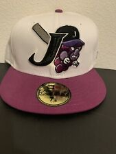 JAMESTOWN JAMMERS MILB New Era Fitted Hat 7 1/8 White/Purple