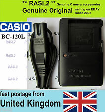 Genuine CASIO Charger BC-120L EX S200 ZS20 S300 ZS10 ZS30 ZS12 ZS15 Z680 690 790
