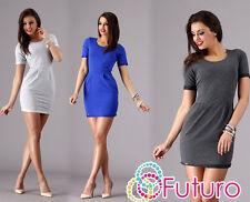 Sexy Womens Dress Short Sleeve Crew Neck Wiggle Tunic UK Brand Sizes 8-14 FA271