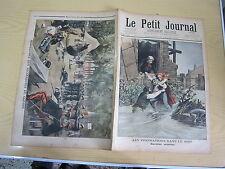 Le petit journal 1897 n° 348 Manoeuvres des secouristes de guerre