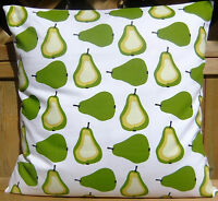 RETRO 60s CUSHION COVERS WHITE LIME GREEN PEAR THROW PILLOW COVERS SINGLE